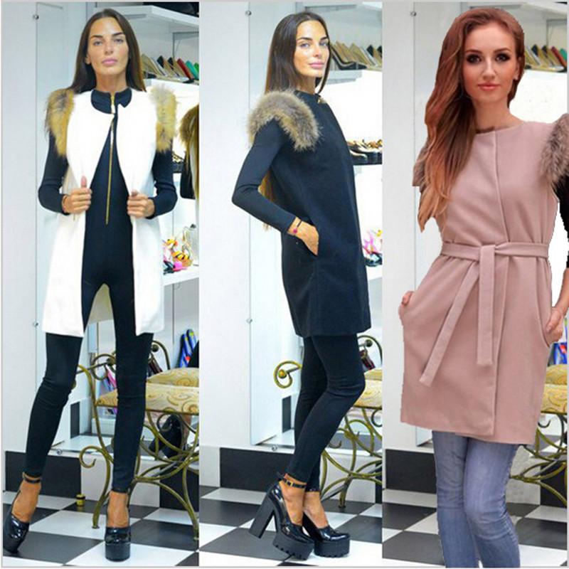 3 цветов мода стиль рукавов пальто зимний пиджаки мода женщины дамы из искусственного меха теплый длинный жилет жилет Gilet