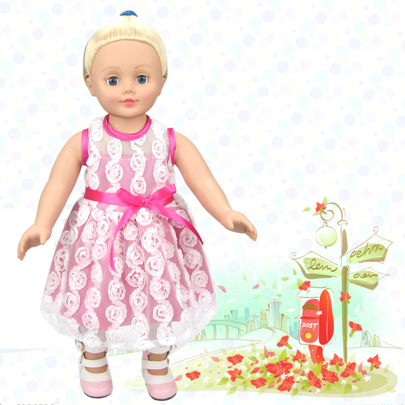 hot 2016 new style Popular 18 45cm American girl doll clothes accessories Dress Up every family