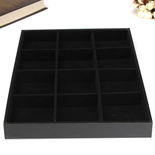 universal Simple <font><b>Elegant</b></font> 12 Grids Jewellery Tray Necklace Bracelet Watch Shop Store Display Storage Boxes <font><b>Home</b></font> <font><b>Decor</b></font> Best Crafts