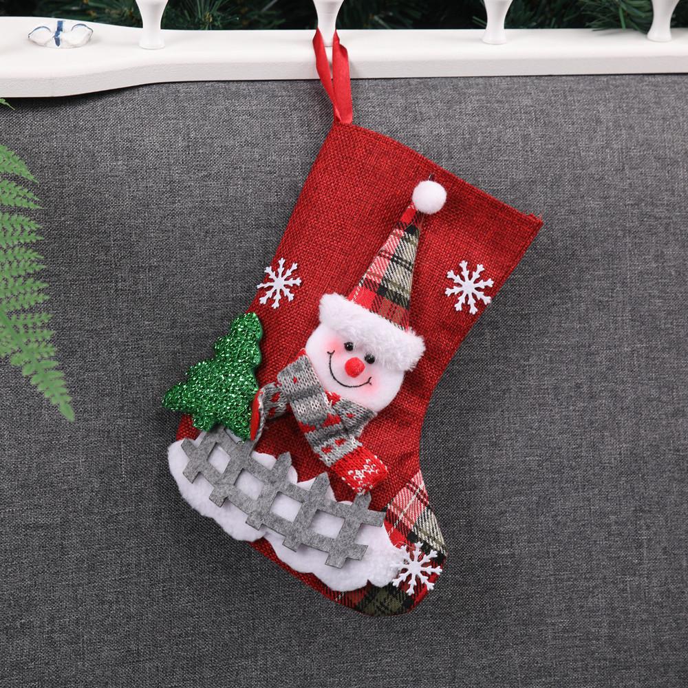 Santa Stocking Socks Candy Gift Bag Tree Hanging Decoration Christmas Xmas Decor