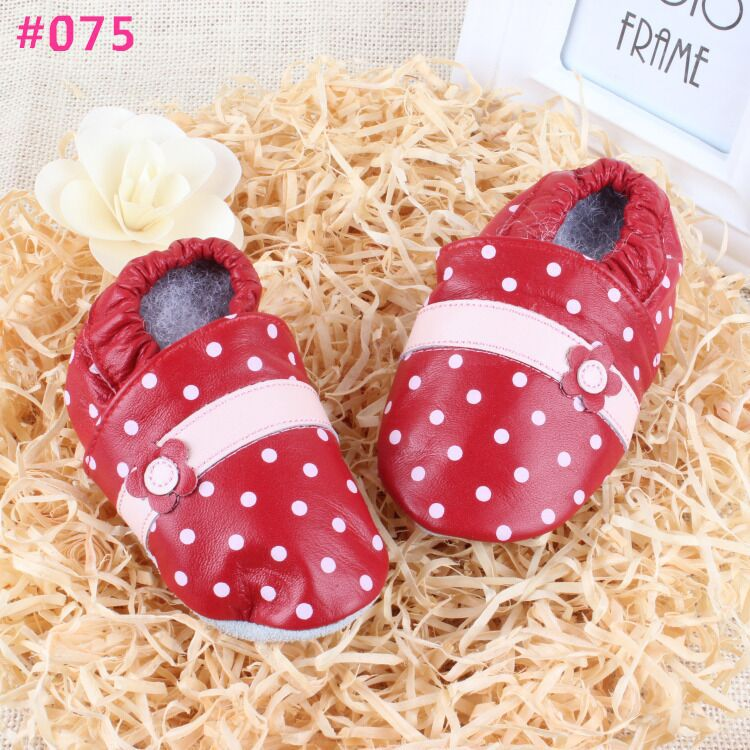 Soft Leather Baby Boys Girls Infant Shoes Slippers 6 12 12 18 18 24 24 30