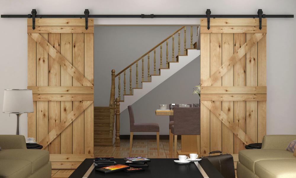 8 2 10 12ft Rustic Sliding Barn Wood Closet Door Interior