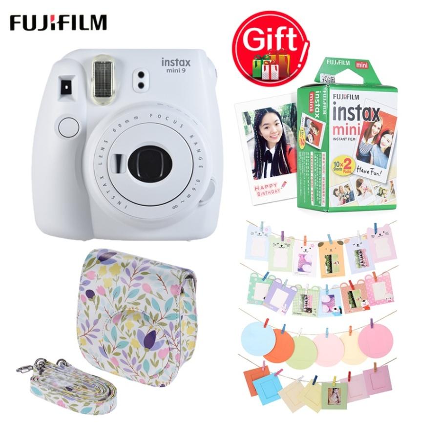 Fujifilm Instax Mini 9 камера + 20 листов мини 8 9 мгновенная пленка + 32 шт. аксессуары для камеры + мини 8 9 сумка для камеры Instax(Китай)