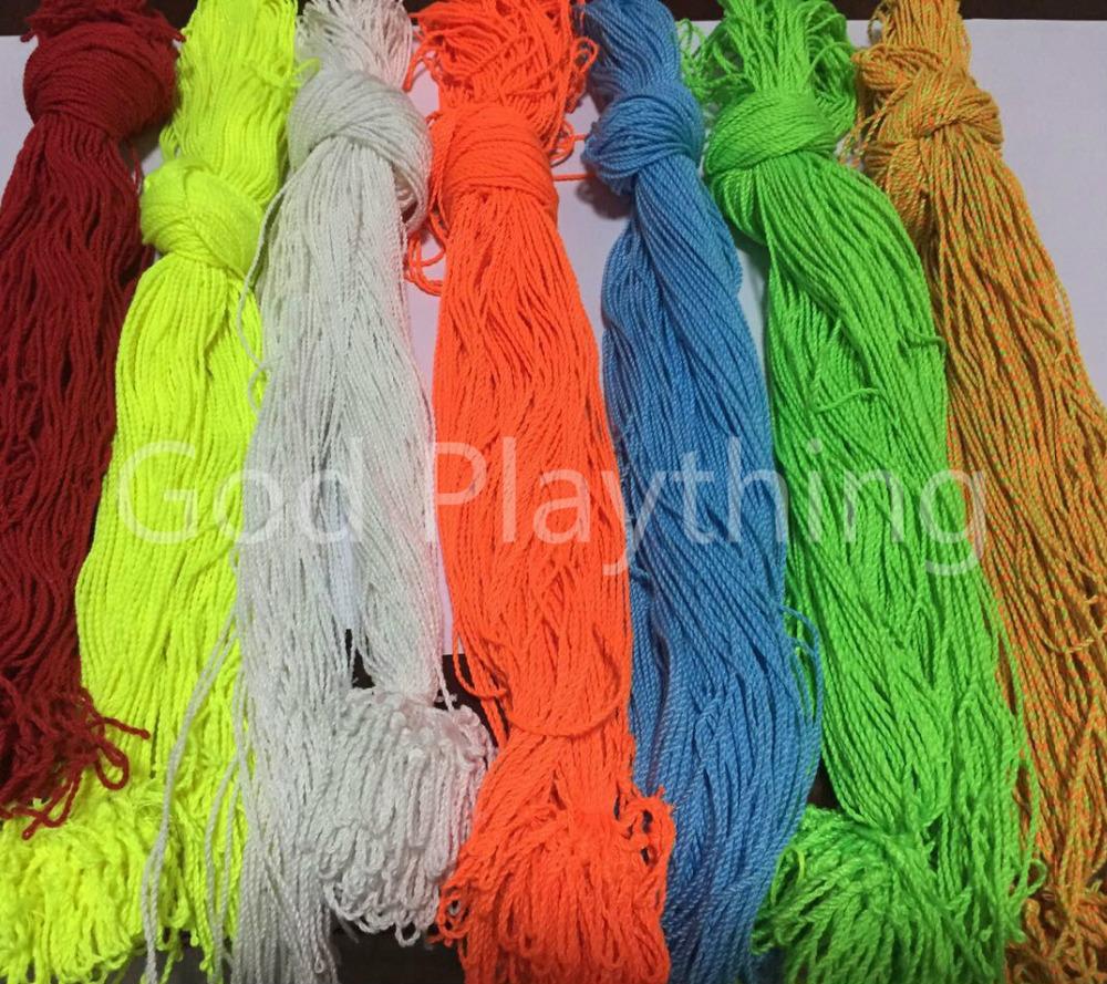 7821b635acd 100 Pcs lot 100% Polyester Light Professional YoYo Ball Bearing String  Trick Yo-Yo Kids Magic Juggling