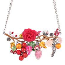 Ожерелье-чокер Bonsny, из эмалированного сплава, с подвеской в виде цветов птиц, 2016, модные украшения для женщин(Китай)