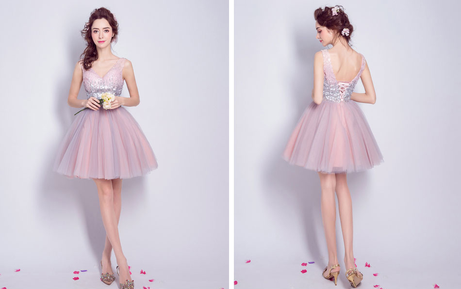 Detail Feedback Questions about AnXin SH Pink evening dress heavy ... cca843220c28