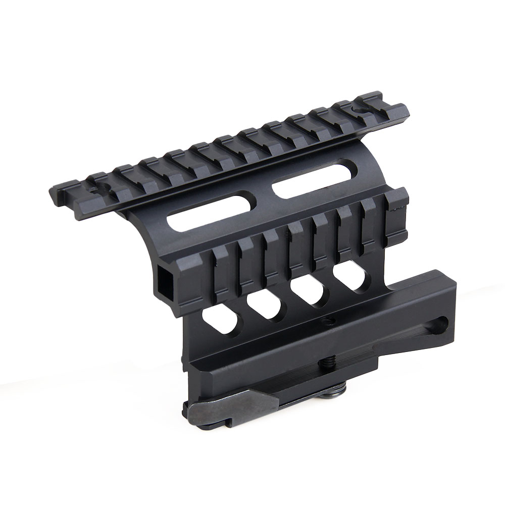 tactical ak serie rail 21mm detach weaver rail double rail side mount gz240064 in scope mounts. Black Bedroom Furniture Sets. Home Design Ideas