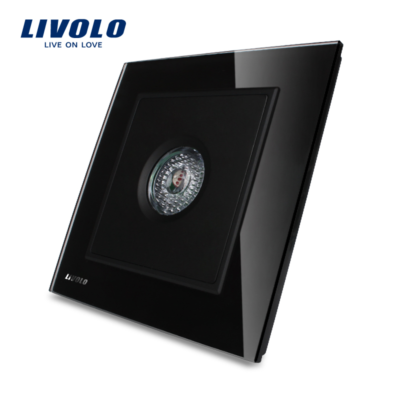 Sound And Light Control Delay Motion Sensor Switch For: Manufacturer LIVOLO Knight Black Crystal Glass Panel Sound