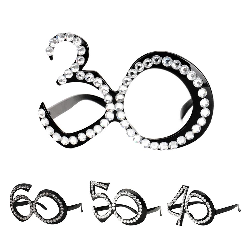 Funny 60th Diamante Birthday Novelty Birthday Party Eyeglasses Age Glasses