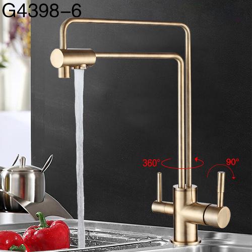 GAPPO 1 комплект смеситель для воды кухонный кран для раковины torneira 360 латунный кухонный смеситель для питьевой воды фильтр краны G4398-5/4398-6(Китай)
