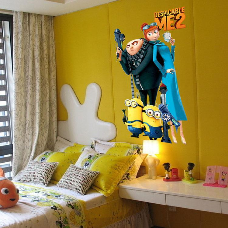 Cartoon Baby Nursery Minions Despicable Me Wall Stickers