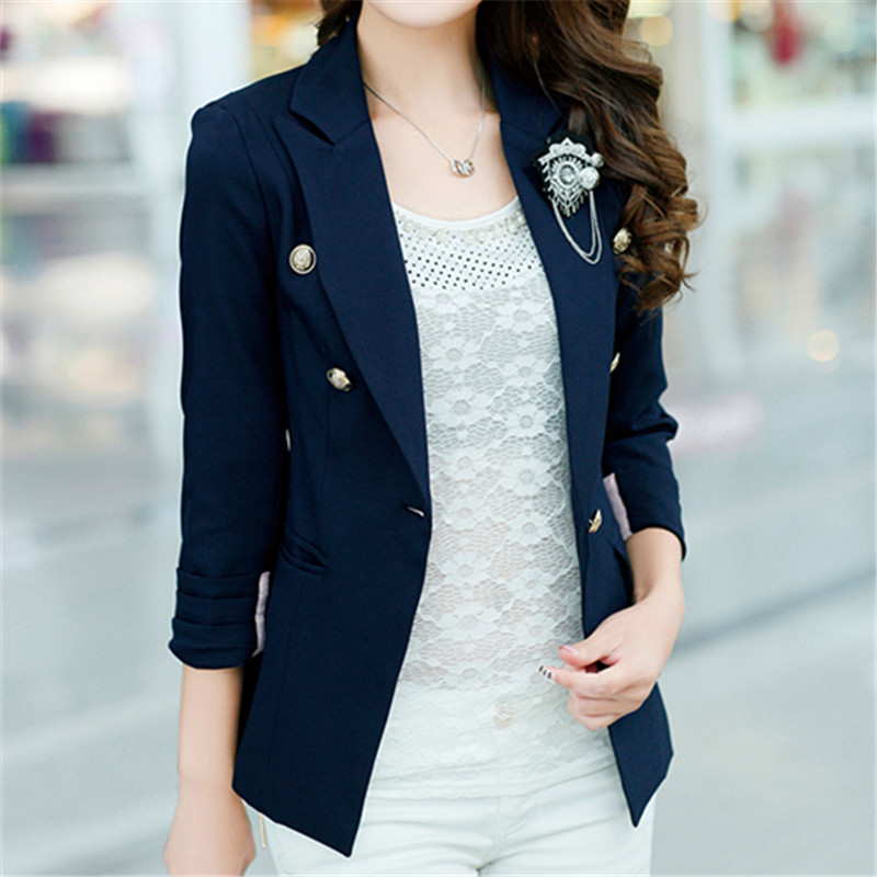 Navy Blue Suit Jacket Womens Suit La