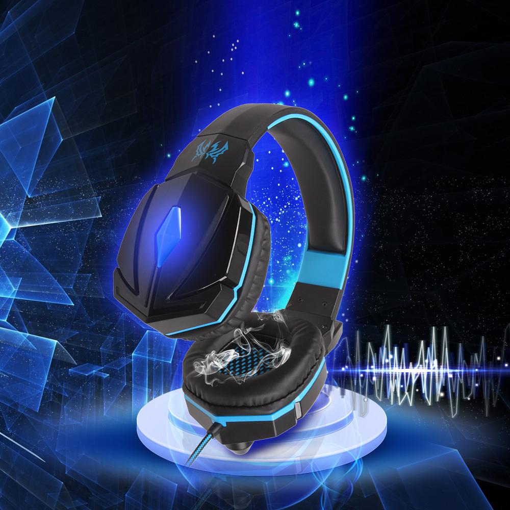 Высококачественного объемного звука превосходное качество шумоподавлением игры геймер гарнитура игры наушники из светодиодов с микрофоном