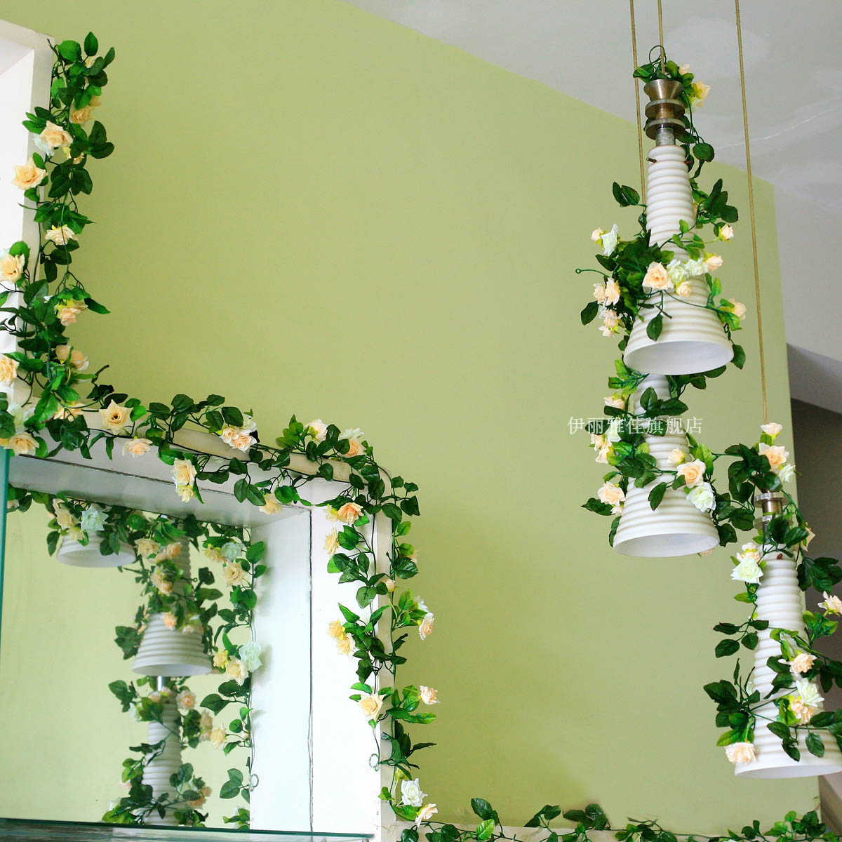 Rose Wall Decoration Artificial Flowers Vine Dried Flowers