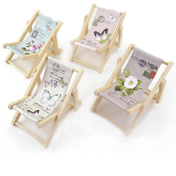 Mini Custom Design Wooden Beach Chair Phone Holder Rack