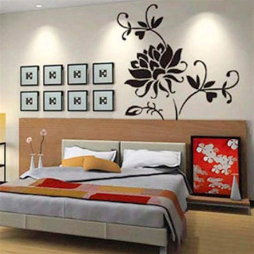 Zero Fashion Black Lotus Mural Home Decor Decals Decorative Craft Art Wall Stickers