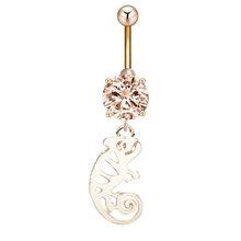 Сексуальное кольцо для пирсинга живота со стразами и снеговиком, серьга для пирсинга пупка, хирургическая сталь, Пляжное украшение для тела...(Китай)