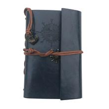 Ретро винтажный пиратский якорь PU чехол свободный листовой шнурок пустой блокнот дорожный дневник Jotter подарок(Китай)