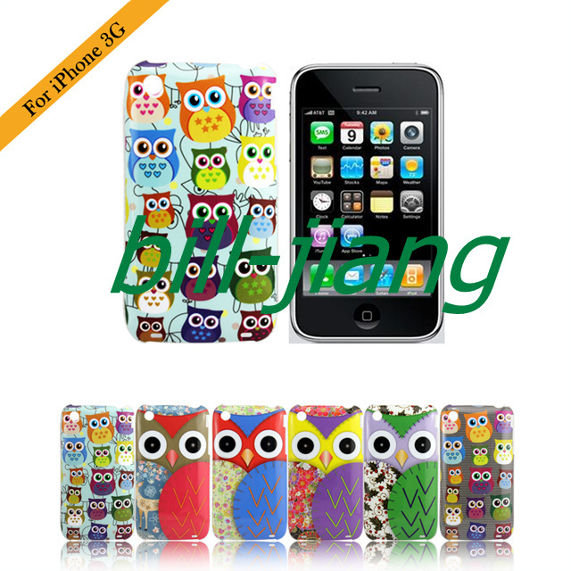 Cartoon Cute Owl Bird design hard Case for iphone 3G 3GS
