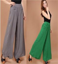 3427e43984 1Pcs Skirt Pants Falda Pantalon 2016 New Brand Design Wide Leg Pants S--8XL  Larger Size Thin Women Trousers Cotton