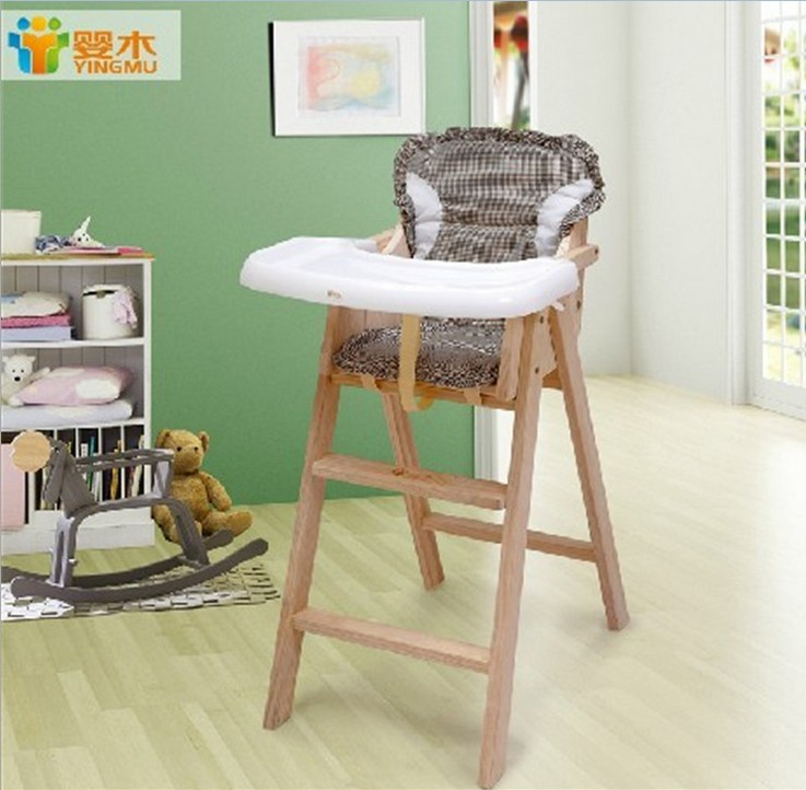 Small Wood Table And Chairs: Small Solid Wood Child Dining Chair Baby Portable Folding
