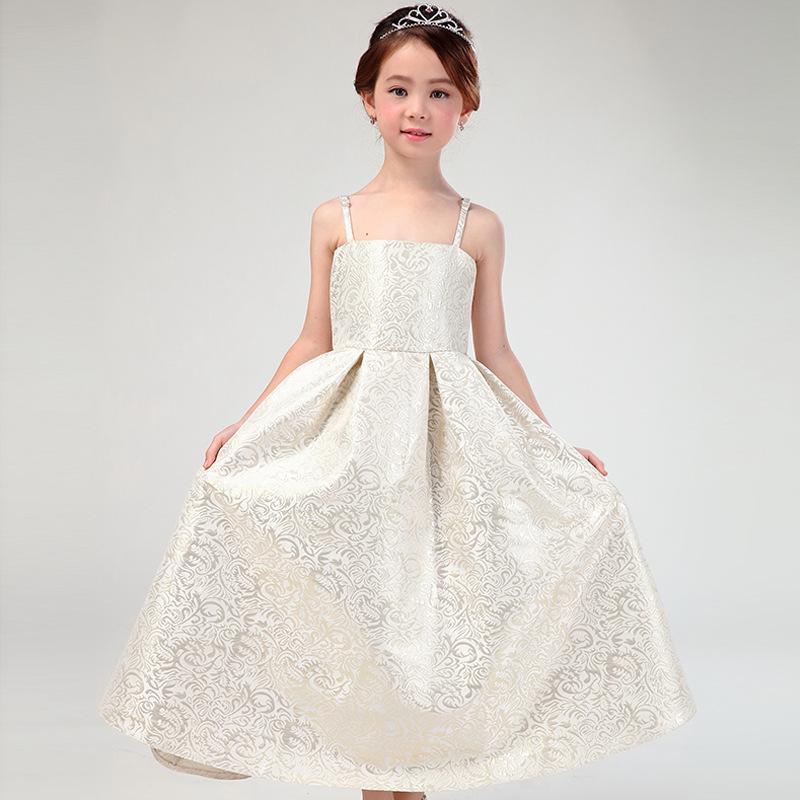 Latest Eropean Style Long Flower Girl font b Dresses b font font b Fancy b font