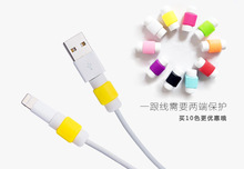 5PCS/lot silicone digital cable protector Cord Protecotor Protective sleeves cable winder cover for iphone ipad