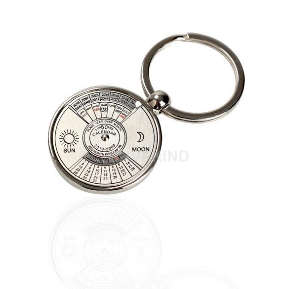 # Cu3 мини вечный календарь брелок кольцо уникальный металл брелок 50 лет