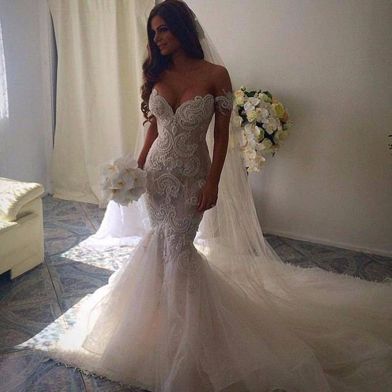 Romantic Beautiful Mermaid Wedding Dresses Sweetheart