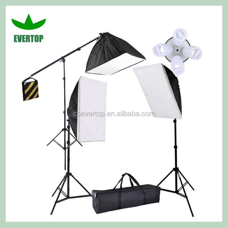 ts slk03 photographie vid o 3 softbox lumi re continue studio clairage boom kit autres. Black Bedroom Furniture Sets. Home Design Ideas