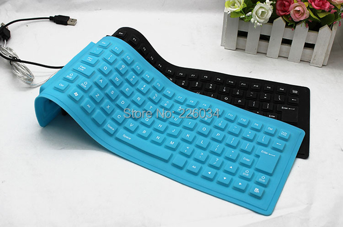 usb 2 0 roll up washable flexible silicone pc keyboard portable usb mini flexible silicone for. Black Bedroom Furniture Sets. Home Design Ideas