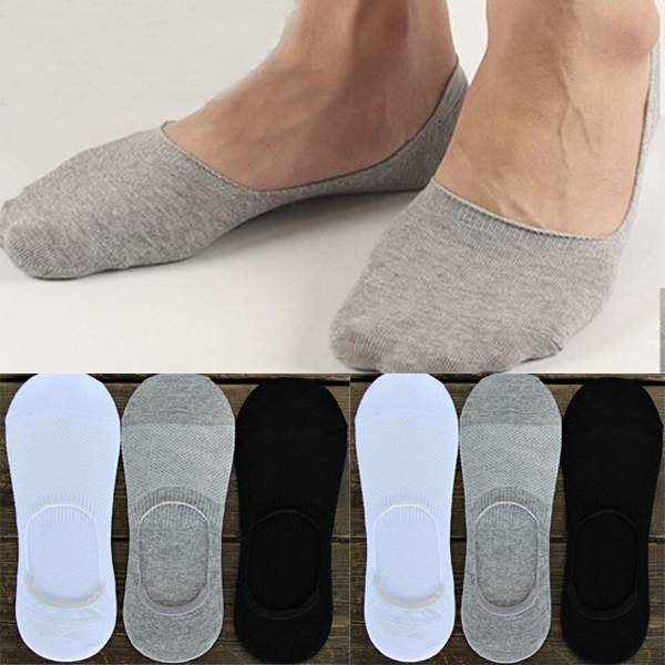 d8af362d85c8e New Hot Men Cotton True No Show Socks Invisible Loafer Boat Shoe Low Cut 1  Pair