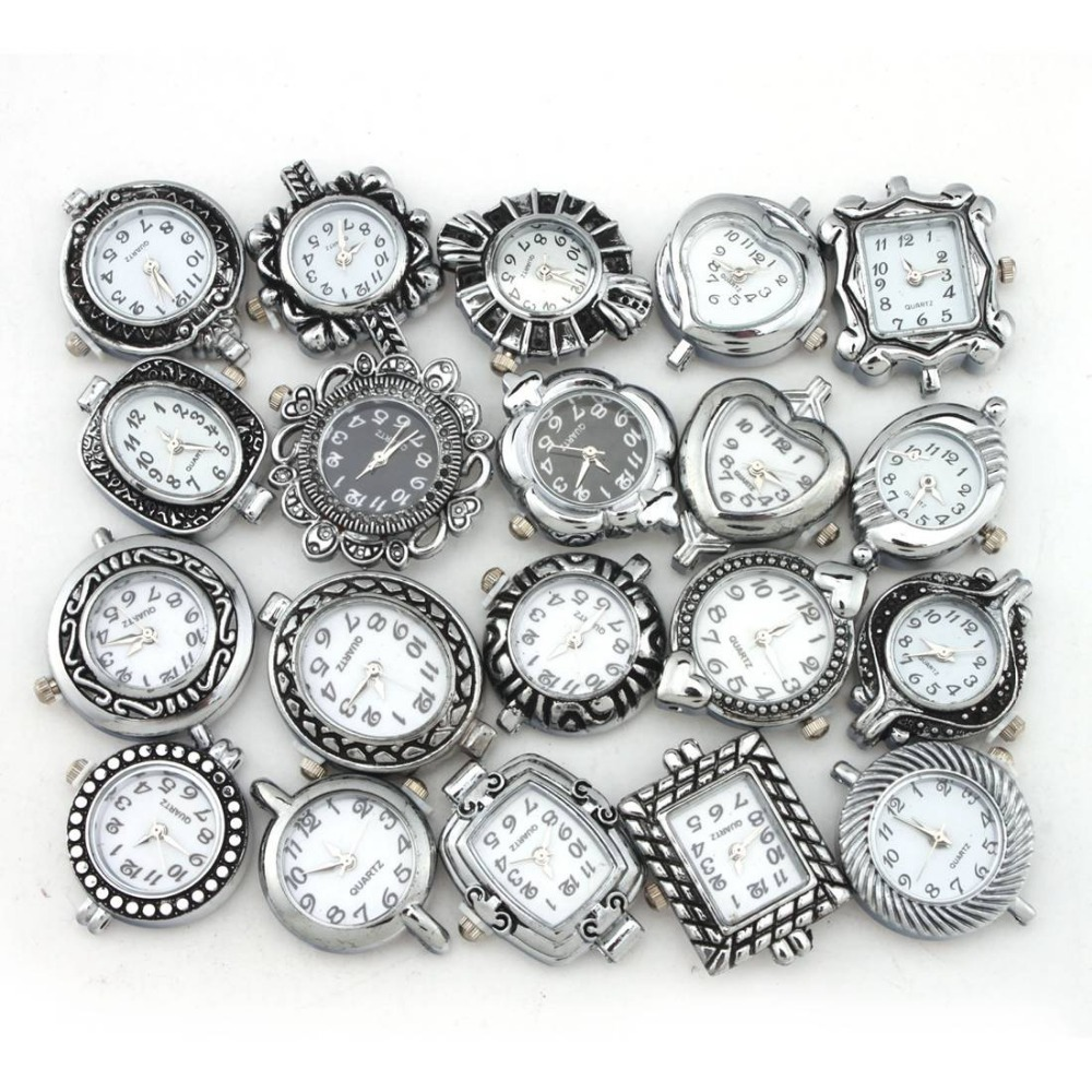 20 смешанная мода довольно бусины кварцевые часы лица 151649