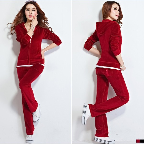 Aliexpress.com : Buy Velvet Track Suit Female Sportswear ...