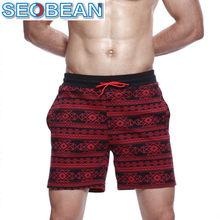 Hot! Seobean brand mens leisure shorts casual beach underwear boxer sexy sports wear baseball surf designer running shorts gym