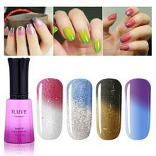 iLuve Temperature Color Changing Nail Polish Soak off gel uv led nail polish couleur luminous iridescent