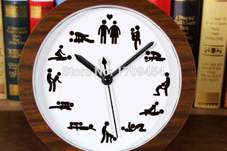 Wedding Gift Clock: 2015 Funny Home Decoration Table Clock 12 Sex Design