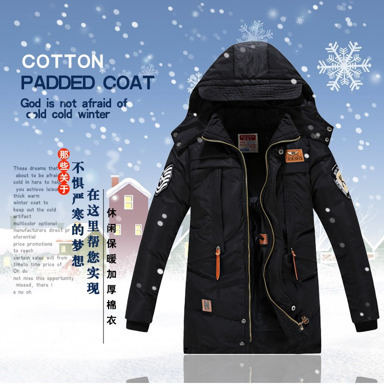 Boys and Adolescents in The Long Section of The Korean Version of The Casual Jacket Optional Color,Red,120 2019 New Thickening Childrens Down Jacket