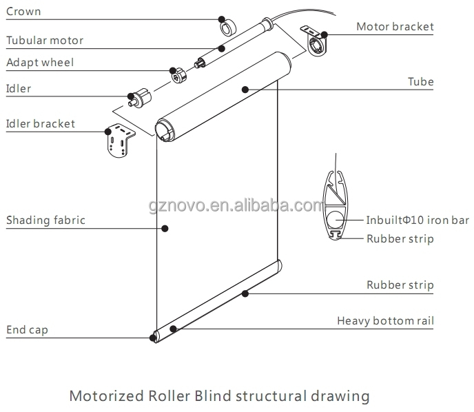 Bracket For Motorized Roller Blind Buy Nice Quality