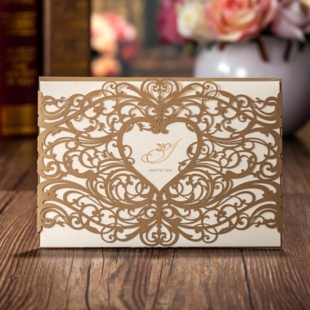 Wedding Invitations Laser Cut Paper: Wholesale Wedding Invitations Elegant Laser Cut Wedding
