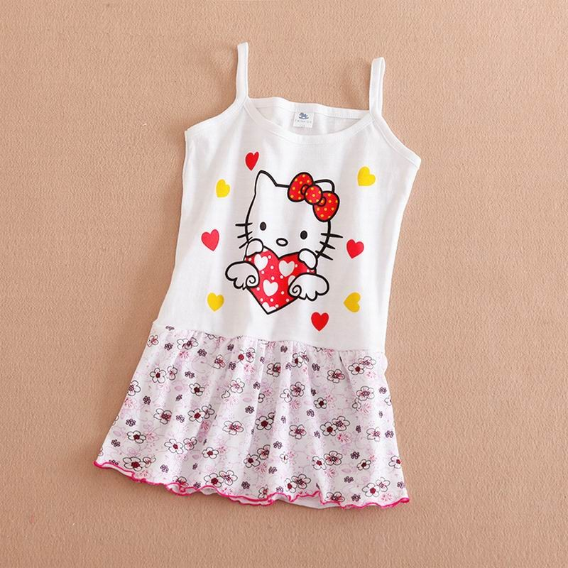Summer Cute Baby Girl Dress Cotton Butterfly Striped Slip Dress butterfuly bow Children Kids Clothing Princess
