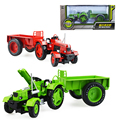Alloy engineering farm tractor with compartment vehicle simulation model of agricultural toys children s toys birthday
