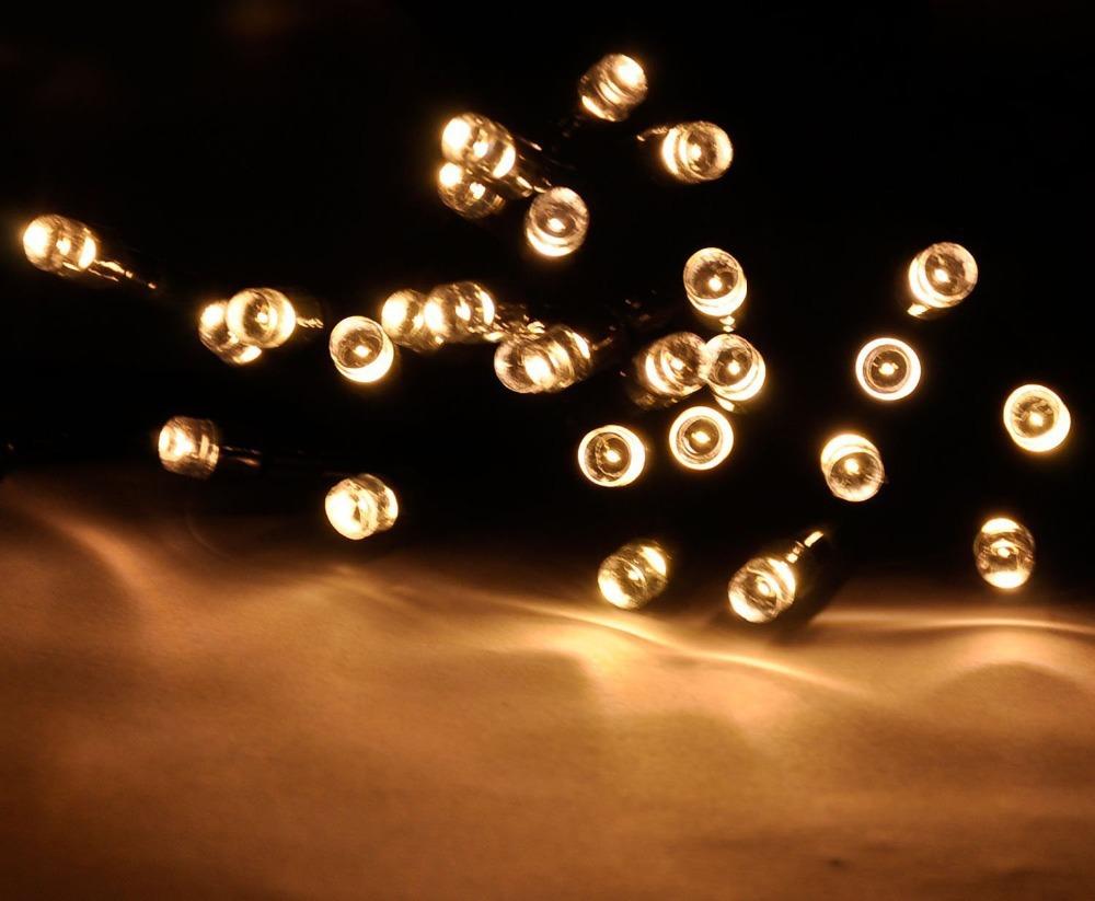 High Quality 60led Solar String Light Warm White Color