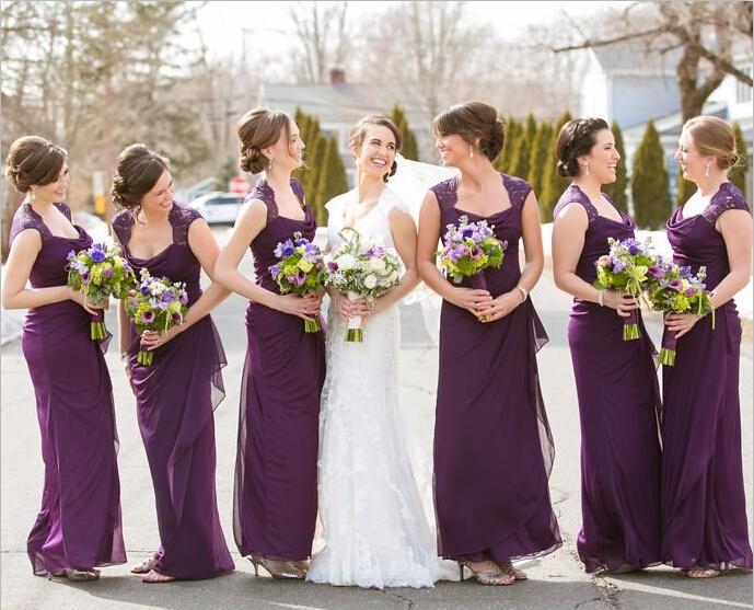 Compra Beige Vestidos De Dama De Honor Online Al Por Mayor: Compra De Color Púrpura De Verano Vestidos De Dama De