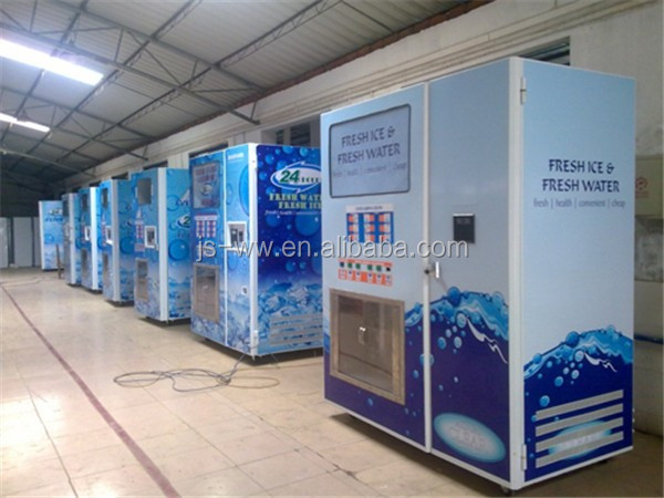 180 800kg Square Cube Ice Vending Machine With Bagging