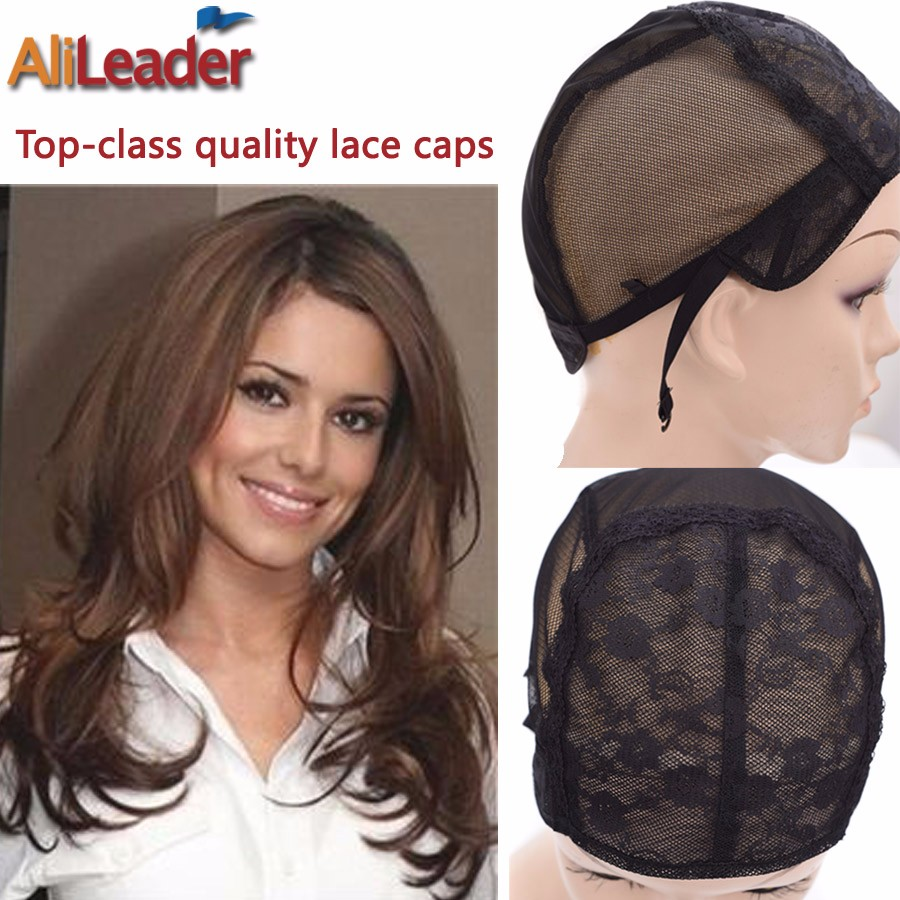 471403dbd40 Wig Caps With Double Lace Front Making Wigs Stocking Wig Cap S M L XL 4  Size Cosmetic Cap Lace Wig Caps With Adjustable Straps