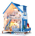 New arrival DIY Model Romantic Aegean sea hut Assemble Villa Doll Home Wooden Miniature DIY Dollhouse