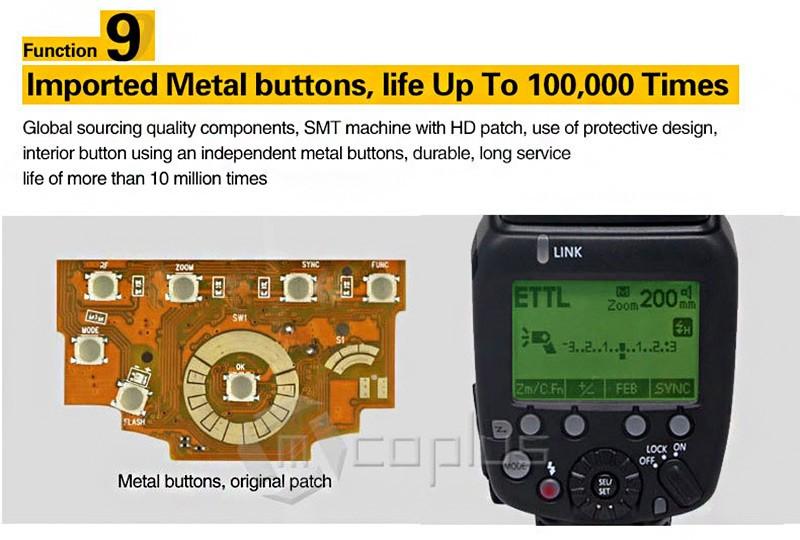 Mcplus הר-600N GN60 1/8000s HSS i-TTL עבד פלאש Speedlite לניקון SB900 SB910 D750 D800 D3300 D5300 D7100 מצלמת DSLR D7000
