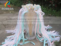 Style D New Arrived 3 Ribbons stick lace wedding wands Pink Mint Ribbon Birthday Party christamas