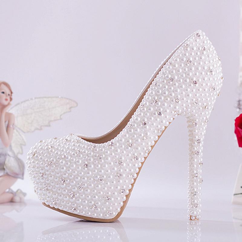 bb6a53d71c2 White wedding heels with rhinestones - photo 10